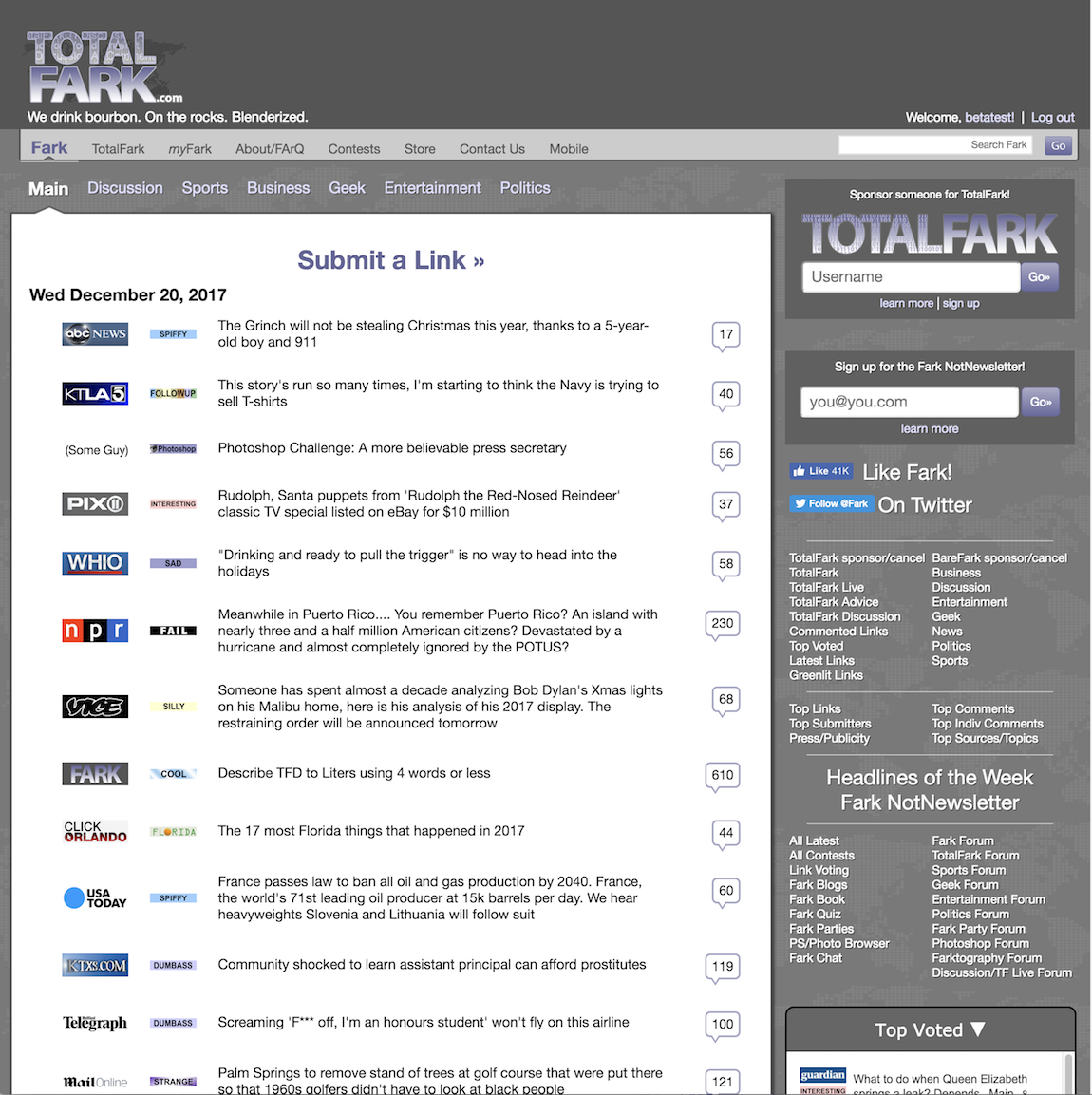 BareFark desktop screenshot